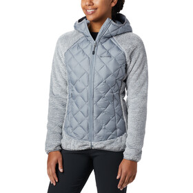 Columbia Techy Chaqueta Híbrida Polar Mujer, tradewinds grey/white stripe